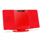 Inovalley CH04CD Cadena estéreo vertical CD USB SD roja (INO-CH-04CDRE)