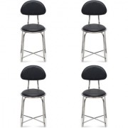 Fabsy Interior - Budget Visitor Chair In Black By Fabsy Interiors (Set Of 4Pcs.)