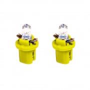 Izzó 12V műszerfalizzó LED 2db (B8,5D) sárga 1873Y