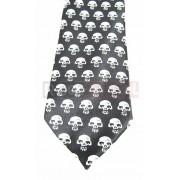Krawat czarno biały - CZASZKI (K-2)