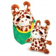 Girafa de plus Zoo Podlings Keel Toys, 18 cm, 3 ani+