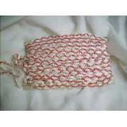 Piros-fehér csipkeszalag 5m-s csomag/014/Cikksz:150021