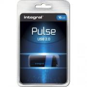 USB Flash 16GB 2.0 Integral Pulse Blue, 105518
