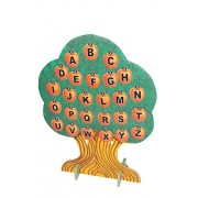 ABC Kids World Big Apple Learning Tree with a Set of Capital, Small and Numbers Apples