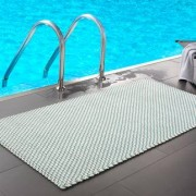Pad home Design Pool Outdoor Teppich 52 x 72 cm, opal-weiß