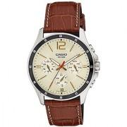 Casio Analog Beige Round Watch - MTP-1374L-9A2VDF (A1046)