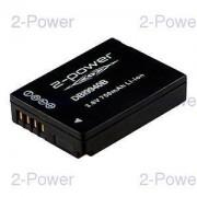 2-Power Digitalkamera Batteri Panasonic 3.6v 800mAh (Firmware 1.1, 1.2) (DMW-BCG10)