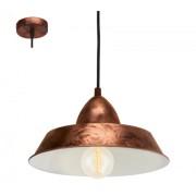 LED lámpa függeszték , mennyezeti , E27 , acél , antik-vörösréz , EGLO , AUCKLAND , 49243