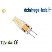 Ampoule led G4 2w SMD 2835 blanc chaud 3000K 10~24v DC ref A192-1