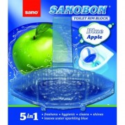 Odorizant WC Sanobon Blue Apple 5 in 1, 55 gr Sano