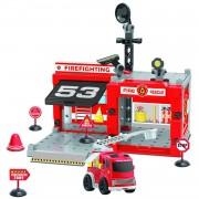 Johntoy bouw jouw eigen brandweerkazerne 67-delig 34 x 46 x 7 cm