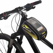 NUCKILY PL06 tocar-screen Bike Front Frame Saddle Bag para telefono movil-Amarillo
