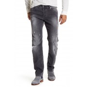 Diesel Belther Slim Tapered Distressed Jeans - 32 Inseam BLACKDENIM