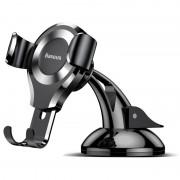Suport Auto Universal Baseus Gravity - Fixare Telefon, Sistem cu Ventuza pentru Parbriz sau Bord, argintiu