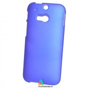 Husa Slim Plastic HTC One M8 Albastra