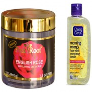 Pink Root combo of Gel Scrub and Face wash 100 ml each (pack of 2)Lemon)