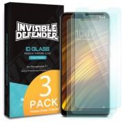 Folie Protectie Sticla Securizata Ringke ID Glass 8809628566651 pentru Xiaomi Pocophone F1 9H, 2+1 BONUS (Transparent)