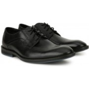 Clarks Prangley Walk Black leather Lace Up For Men(Black)