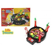 Cook and Play BBQ Toy - Super Barbeque Grill Play Set Game: Includes 4 Tongs