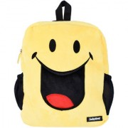 Smiley World Crazy Laughing Expression Soft Toy School Bag 14 Inch Yellow by Ultra