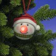 LED-es hóember gömb