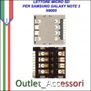 Flat Lettore Sim Scheda Memoria Memory Card Samsung Galaxy Note 3 N9005