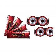Mémoire RAM G.Skill RipJaws 4 Series Rouge 16 Go (4x 4 Go) DDR4 3300 MHz CL16 - F4-3300C16Q-16GRRD + 2 kits de ventilateurs (garantie 10 ans par G.Skill)