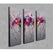 Tablou CANVAS 3 piese Abstract Flower