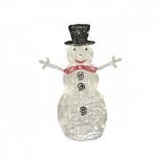 Akril hóember, kültéri, 80 WH/WW LED, 90 cm