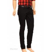 Pantaloni Slim Fit Negri bumbac - Pantaloni barbati casual-eleganti PN15