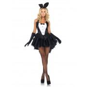 Vegaoo.es Disfraz de conejita sexy blanco y negro para mujer - M/L (42-44)