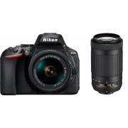 Nikon D5600 + 18-55mm Af-P Vr + 70-300mm Af-P Vr - Man.Ita - 2 Anni Di Garanzia In Italia