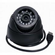 Camera de supraveghere cu inregistrare pe card microSD 32GB, tip Dome, de interior