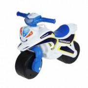 Motocicleta de politie Doloni cu sunete si lumini alb cu albastru