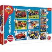 Puzzle Pompierul Sam 10 in 1 - 20, 35 si 48 piese