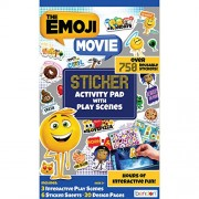 Bendon The Emoji Movie Double-Sided Sticker Pad with Over 750 Reusable Stickers (AS40941)