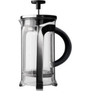 aerolatte FP-1-3 3 Cups Coffee Maker(CLEAR GLASS, CHROME FINISH S.S. LID & STAND, BLACK HANDLE)