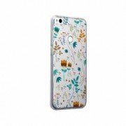 Husa Silicon Transparent Slim Spirng Flowers Huawei Honor 9 Lite