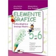 Elemente grafice cu Rita Gargarita si Greierasul Albastru caiet pentru grupa mare 5-6 ani