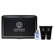 Versace Pour Homme 5Ml Edt 5Ml + 25Ml Docciaschiuma + 25Ml Balsamo After Shave Per Uomo (Eau De Toilette)