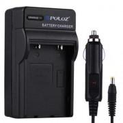 PULUZ® 2 i en batteriladdare för Fujifilm NP-70, DB-60 Panasonic (S005) batteriet