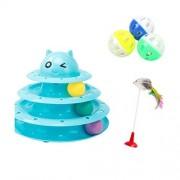 HAN Juguete para mascotas Juguete para Gatos Funny Cat Bola giratoria 3 Pisos Pet Kitten Supplies Cat Toy Pet Supplies (Color : F, Tamaño : 24.5cm*19.5cm)