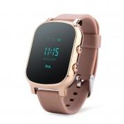 Ceas inteligent pentru copii cu telefon si localizare GPS GW700 Gold
