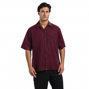 Chef Works Unisex Cool Vent Chef Shirt Merlot M Size: M