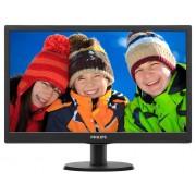 "Philips 193V5LSB2,18.5"" Wide TN LED, 5 ms, 10M:1 DCR, 200 cd/m2, 1366x768 HD, Black"