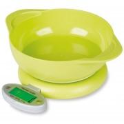 Louiwill Báscula De Cocina Digital Báscula De Alimentos Para Cocinar Hornada Multifunción Con Pantalla LCD De Cuenco Extraíble (baterías Incluidas), ABS, Verde