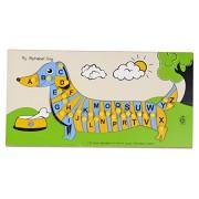 Skillofun Wooden My Alphabet Dog, Multi Color