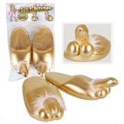 Arany színű papucs - péniszes