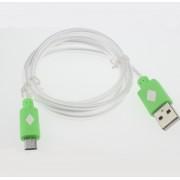 Zelený svietiaci LED USB kábel