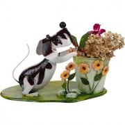 Wonderland Decorative Garden Dog with Pot / planter : Home Decor Gift Item